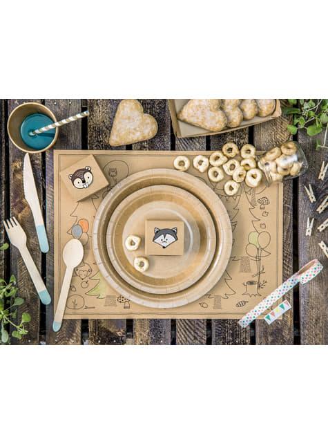 6 platos de papel Kraft - Natural Wedding (23 cm) - comprar