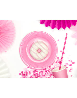 6 Pastel Pink Paper Plate (18 cm) - Sweets Collection