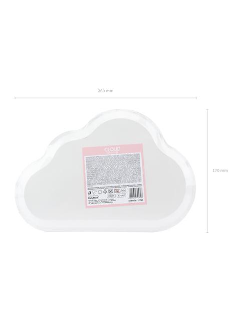 6 platos blancos con forma de nube de papel (26x17 cm) - comprar