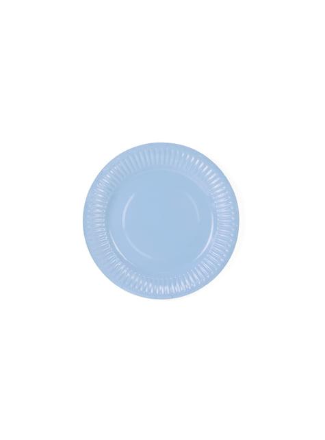 6 platos multicolor de papel (18 cm) - Pastelove - para tus fiestas