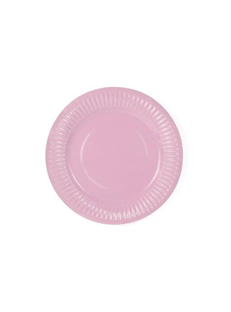 6 platos multicolor de papel (18 cm) - Pastelove - barato