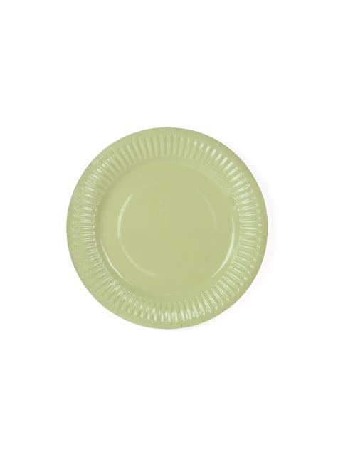 6 platos multicolor de papel (18 cm) - Pastelove - comprar