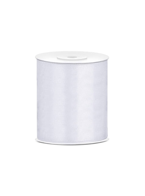 Ruban blanc satin de 10cm x 25m