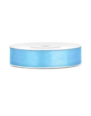 Cinta azul cielo satinada de 12mm x 25m