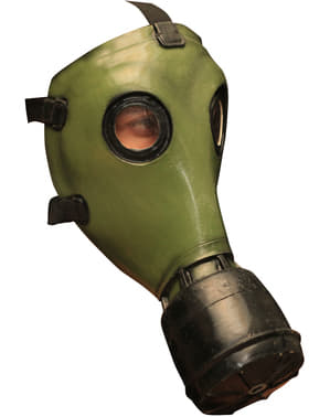 GP-5 Gasmask i latex Grön