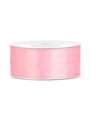 Fita acetinada cor-de-rosa pálido de 25mm x 25m