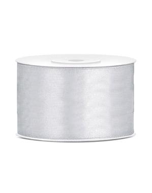 銀のサテンのリボンの大きさ38mm x 25m
