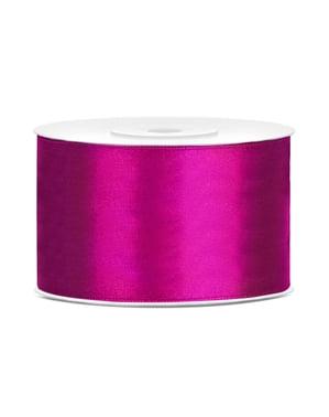 Satin ribbon in fushia measuring 38mm x 25m