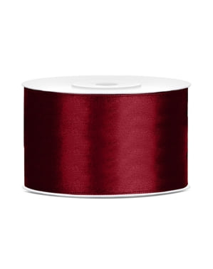Satinbånd i rødbrun, der måler 38mm x 25m