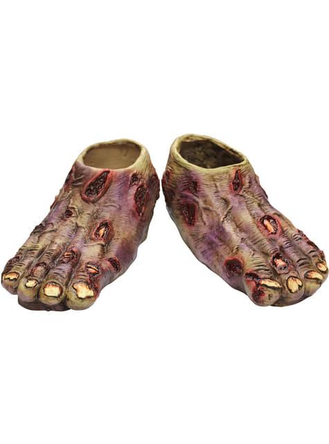 Cubrebotas de Zombie Junior Undead de látex
