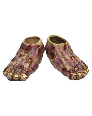 Tapa botas de Zombie Júnior Undead em látex