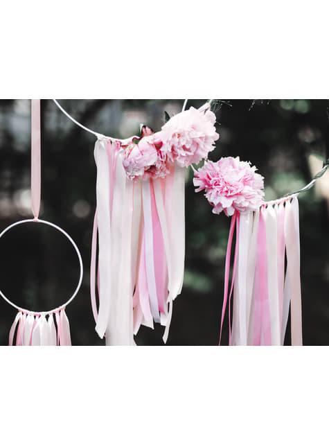 Cinta rosa pastel satinada de 6mm x 25m