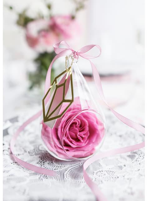 Cinta rosa pastel satinada de 6mm x 25m - para tus fiestas