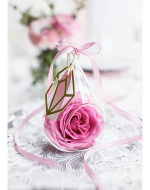 Fita acetinada cor-de-rosa pastel de 6 mm x 25 m