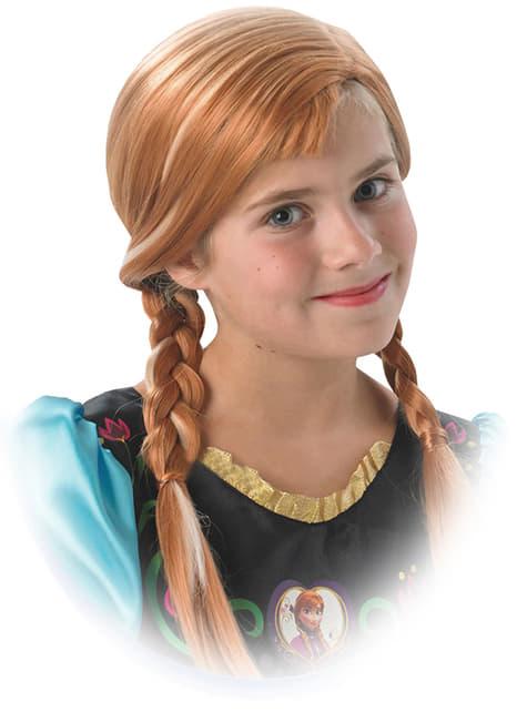 Peruca de Anna Frozen para menina