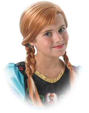 Girls Anna Frozen Wig