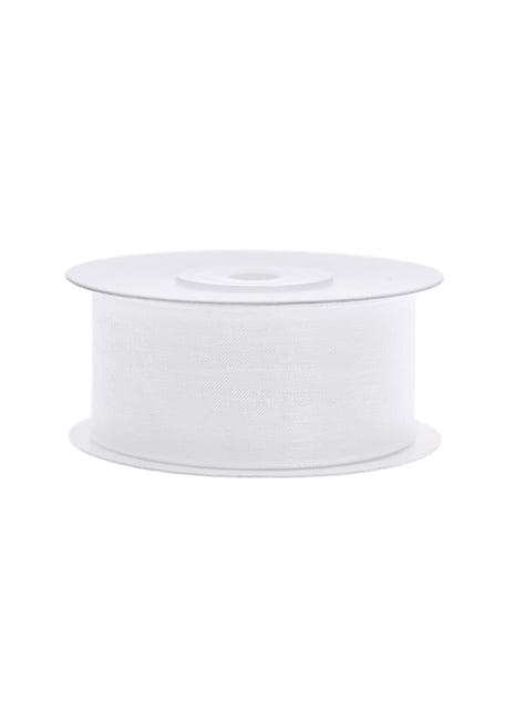 Cinta de gasa blanca de 3,8 cm - para tus fiestas