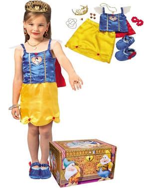 Costum Albă ca Zăpada Prințese Disney pentru fată