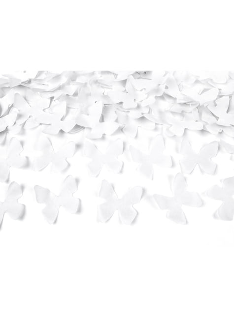 Cañón de confeti de mariposas blancas de 60 cm - comprar