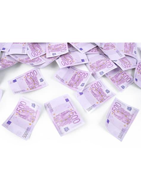 Canon à confettis billets de 500 euros de 60 cm