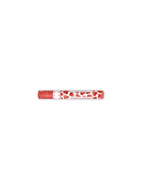 Cañón de confeti de corazones rojos de 40 cm - para tus fiestas