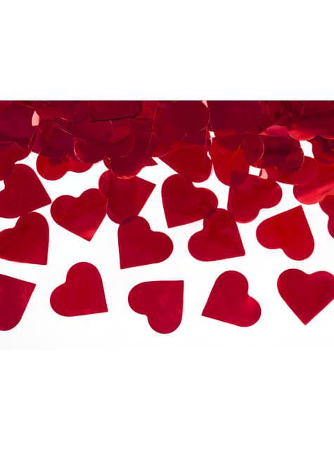 Canon à confettis de coeurs rouges de 40 cm