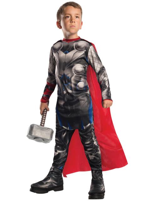 Fato do Incrível Thor do filme Os Vingadores: A Era de Ultron deluxe para menino