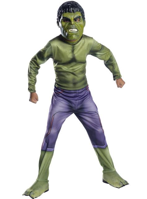 Fato do Incrível Hulk do filme Os Vingadores: A Era de Ultron para menino