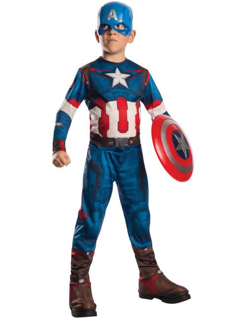 Fato de Capitão América do filme Os Vingadores: A Era de Ultron para menino