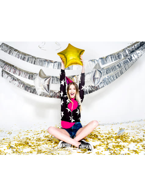 Confetti Cannon with Silver Rectangular Confetti, 60cm