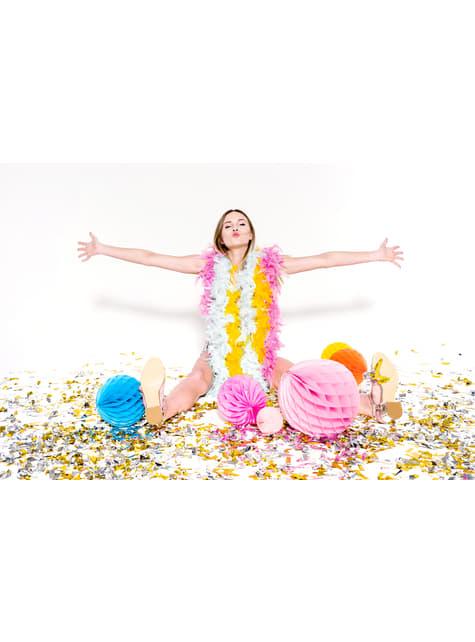 Cañón de confeti rectangular plateado de 60 cm - el más divertido
