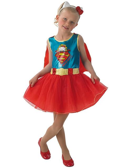 Supergirl Kostüm für Mädchen Hello Kitty