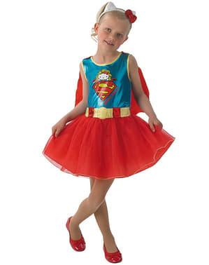 Costum Supergirl Hello Kitty pentru fată
