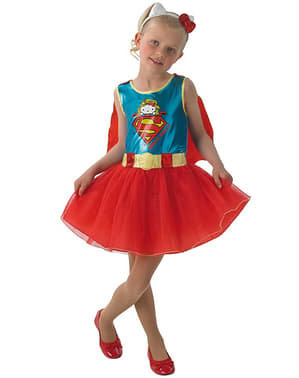Costume Supergirl Hello Kitty bambina