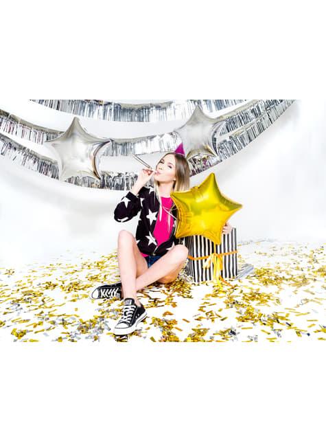 Cañón de confeti rectangular dorado de 60 cm - para decorar todo durante tu fiesta