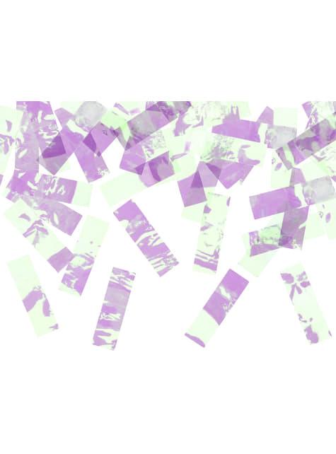Canhão de confete iridescente de 60 cm