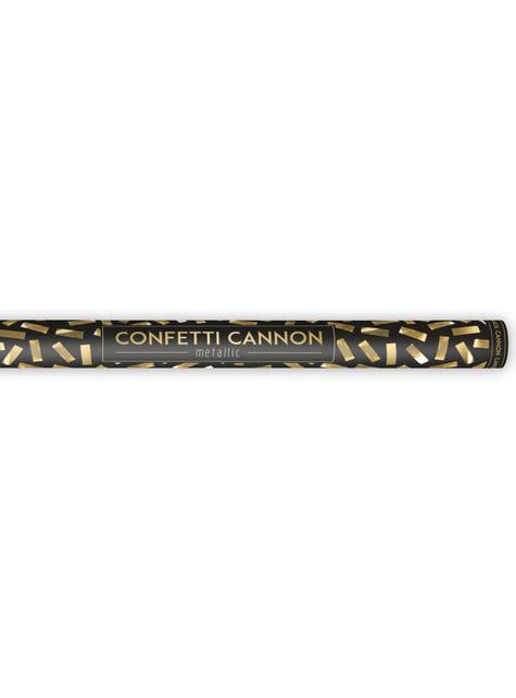 Cannone di coriandoli rettangolare dorato di 80cm