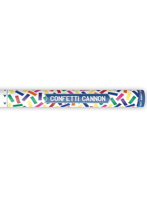 Cañón de confeti con serpentinas multicolor de 60 cm - barato