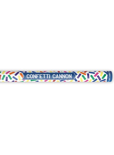 Cañón de confeti con serpentinas multicolor de 80 cm - barato
