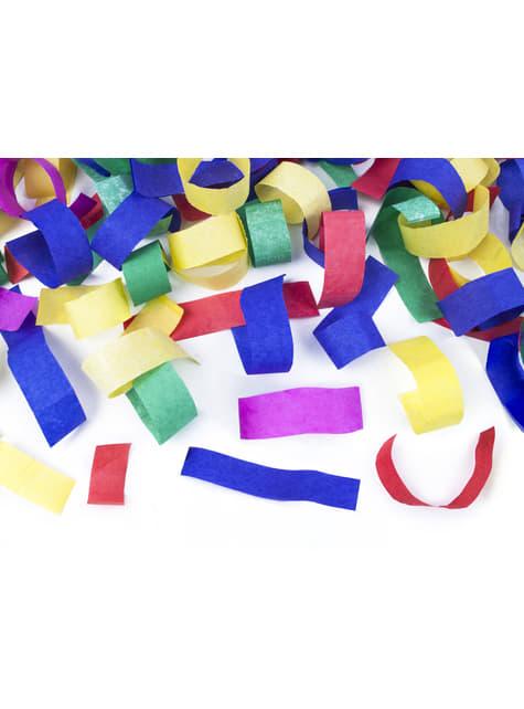 Cañón de confeti con serpentinas multicolor de 80 cm - comprar