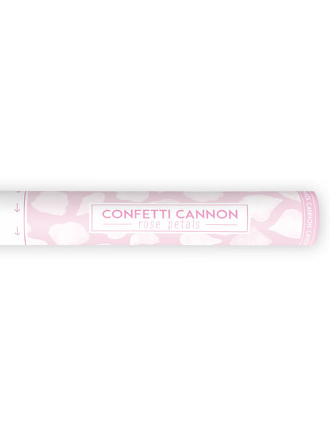 Confetti Cannon with White Rose Petals, 40cm
