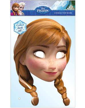 Maschera Anna Frozen: il regno di ghiaccio bambina