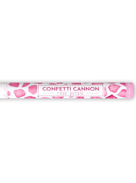 Cañón de confeti con pétalos rosas de 60 cm - barato