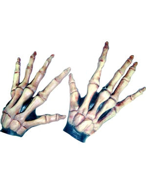 Elongated skeleton hands