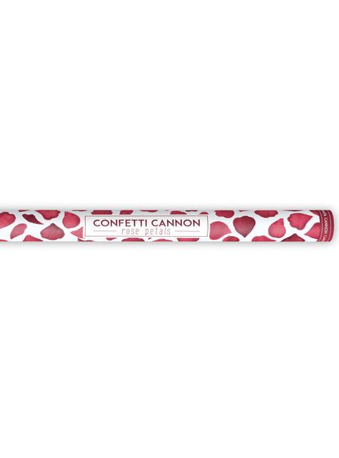 Canon à confettis pétales rouge foncé de 80 cm