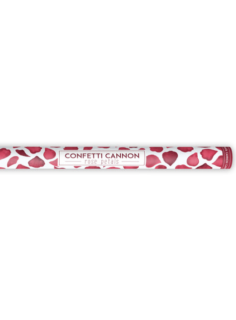 Cañón de confeti con pétalos rojos oscuro de 80 cm - barato