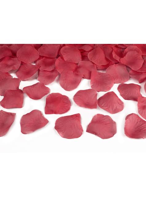 Cañón de confeti con pétalos rojos oscuro de 80 cm - comprar