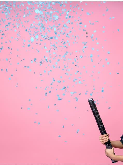 Cañón de confeti azul de 60 cm - para niños y adultos