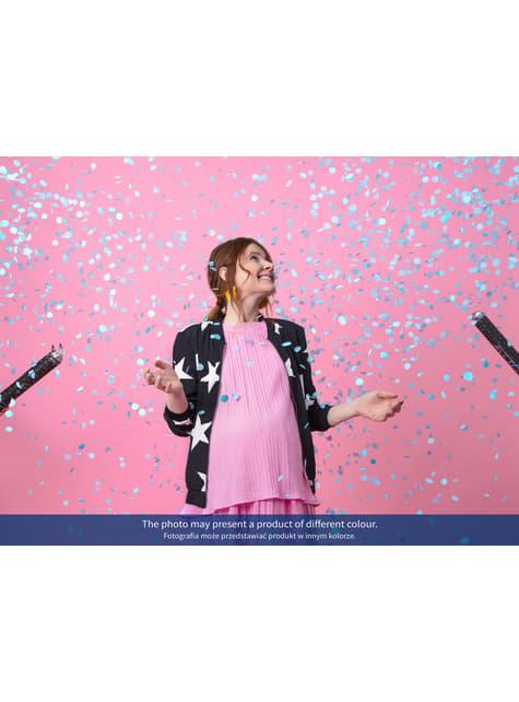 Canon à confettis rose de 60 cm