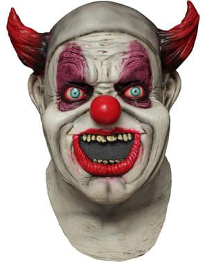 Latexová maska klaun s pusou plnou červů